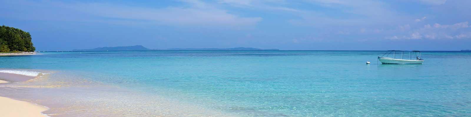 Panama Tranquilo Mar Azul  Ferias de tempo longo. Casas grandes e pequenas.